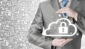 Private Cloud with lock overlay